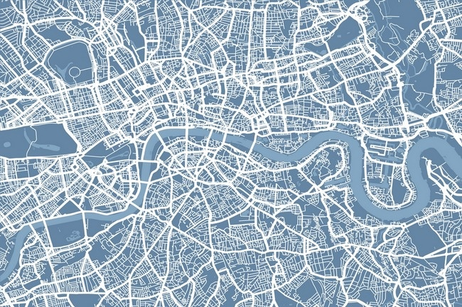 map of  london - this reminds me of my architecture project