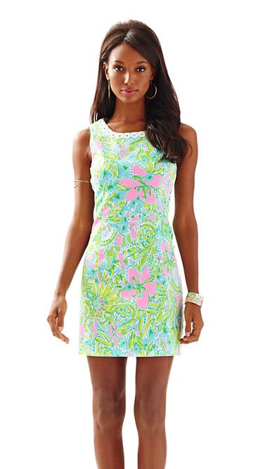 Lilly Pulitzer Mila Lace Detail Shift Dress - Coconut Jungle