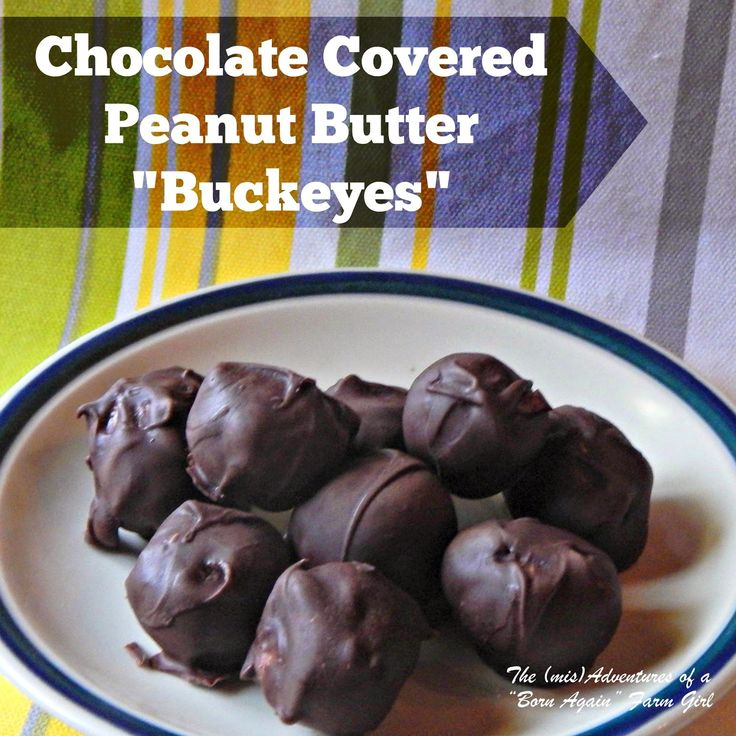 Chocolate Covered Peanut Butter Buckeyes