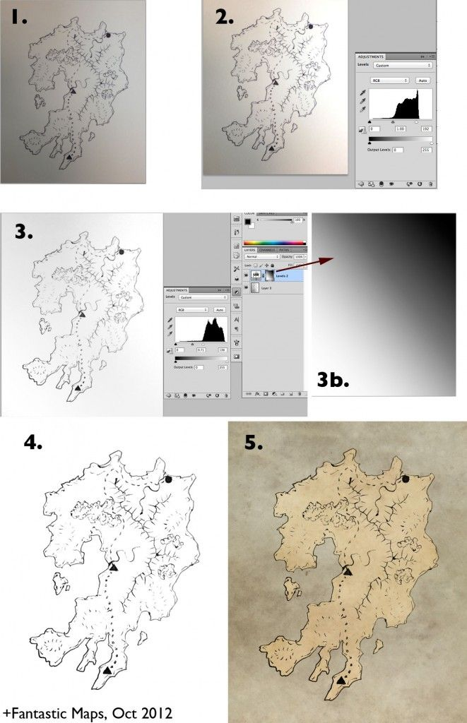 how to draw a fantasy map in photoshop