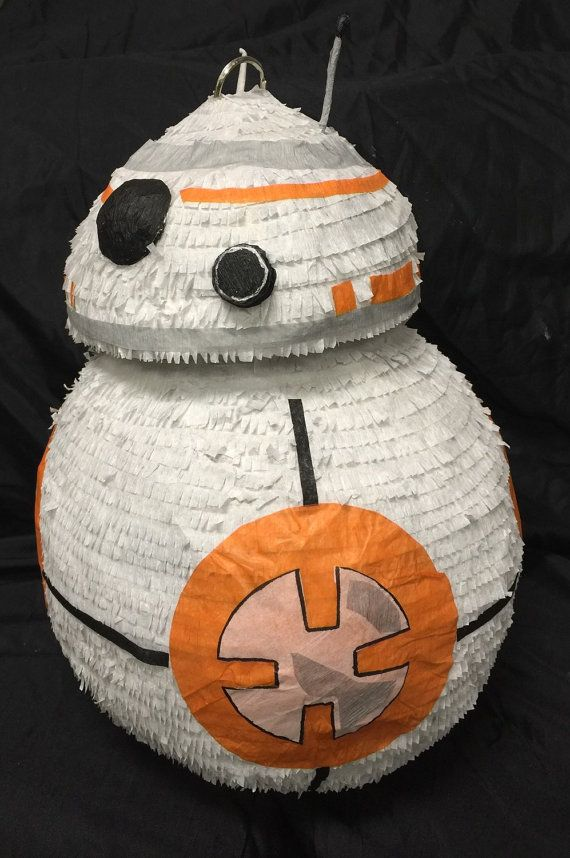 Introducing our newest droid Pinata just in time for the new Star Wars movie. This little fellow comes in two sizes. The regular is about 12