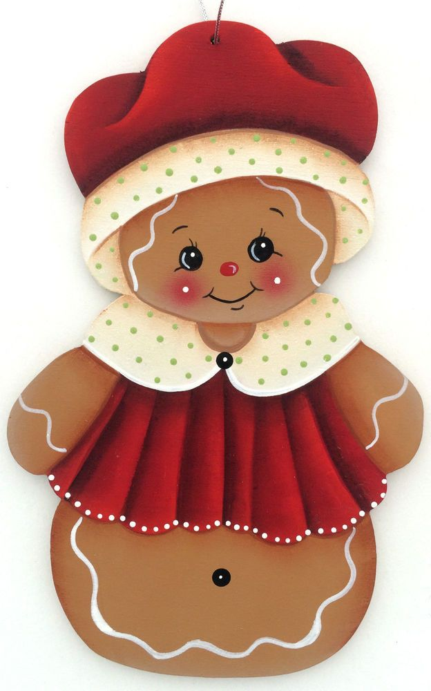 HP GINGERBREAD ORNAMENT red hat