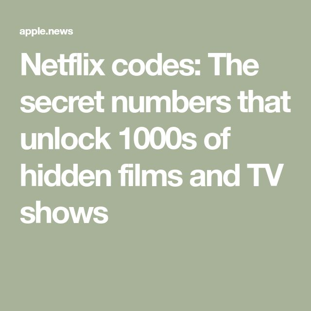 Netflix codes: The secret numbers that unlock 1000s of hidden films and TV shows