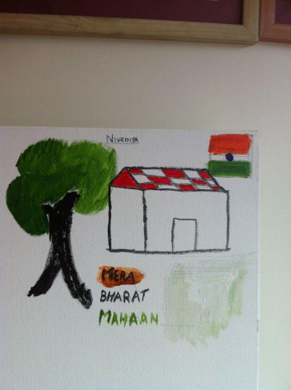 Mera #Bharat Mahaan #IndependenceDayFeviArtWay