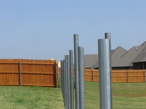 How To Install Metal Fence Post In 2020 Metal Fence Posts Steel Fence Posts Metal Fence