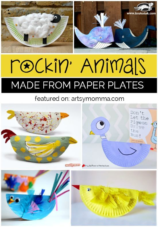15+ Rockin' Paper Plate Animal Crafts