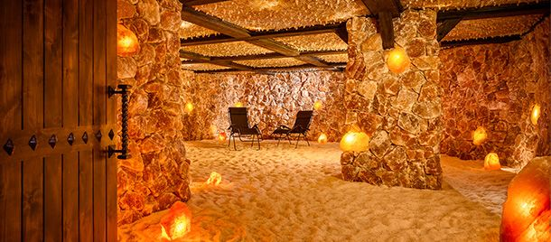 Taking wellness to another level, halotherapy—a.k.a. salt therapy—remains a top spa trend. (Halo is Greek for salt.) The benefits of salt therapy are