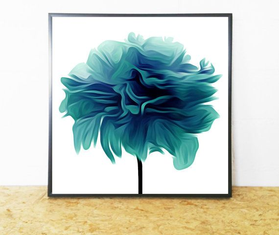 Lovely Teal Flower #Print (Abstract Wall Art) for Instant Download. On trend Flower #Printable (Abstract Teal Print) to Update or Decorate your Home or Office Decor. Cost-Eff... #handmade #décor #poster #blue #print #printable #art #etsy #wallart #love ➡️ http://jto.li/7EsBG