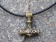 Huge Bronze Thor's Hammer/Mjolnir Vikings Amulet/ by IronWoodsShop, $47.99