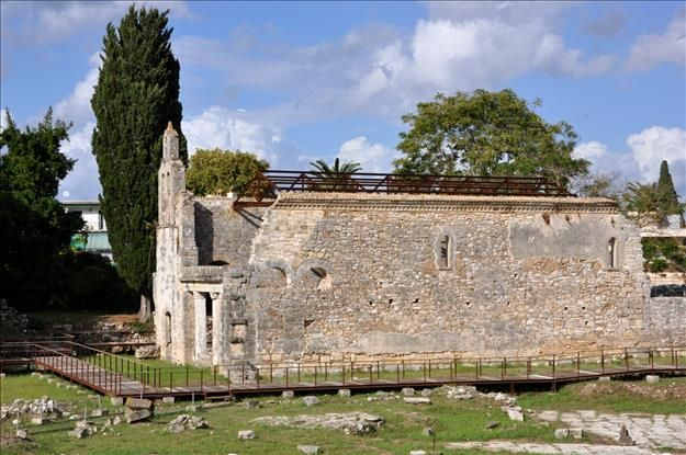 The Early Christian Basilica of Paleopolis - Almost opposite the entrance to Mon Repos stands the ruined church of Paleopolis. This church was decorated with sculptures and a mosaic floor and was the largest basilica in Greece.