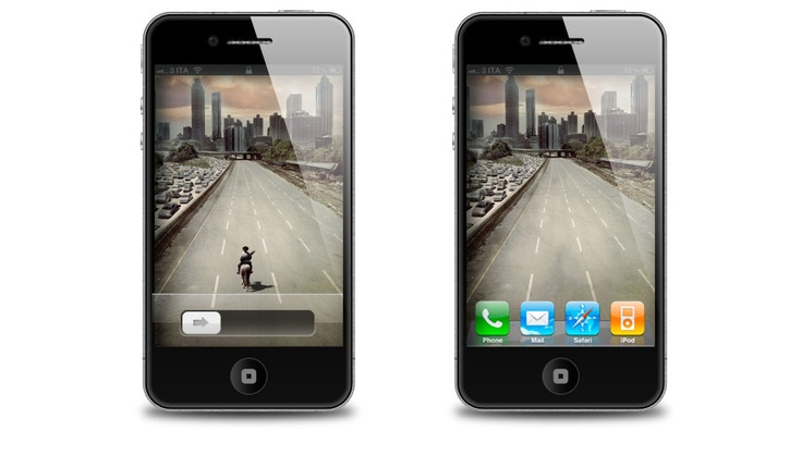 IPhone 4S Wallpaper E Home Screen