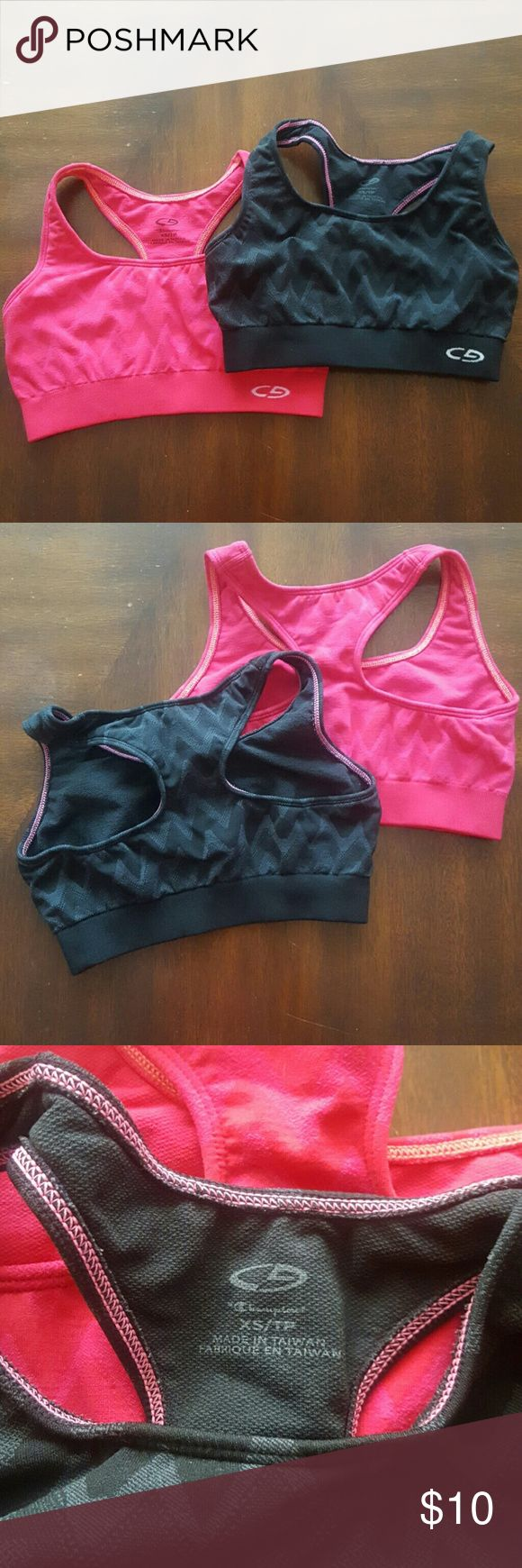 C9 Champion sports bras Two C9 by Champion sports bras that have plenty of life left in them! Champion Intimates & Sleepwear Bras