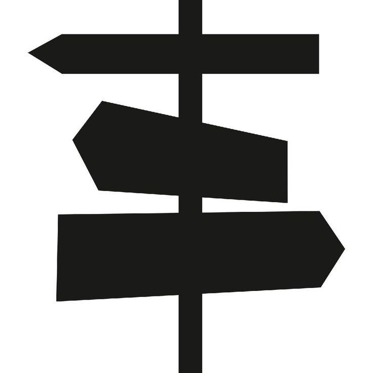 Nástěnná tabulová samolepka Ways