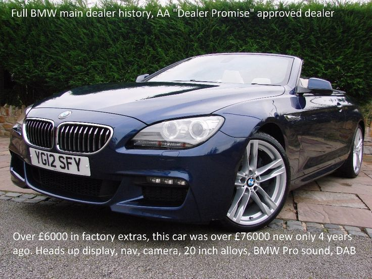 Second hand blue 12 plate bmw 6 series automatic diesel convertible 3.0 640d m sport 2dr in Rainford. Contact us or visit our showroom today.