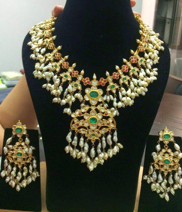 Top 10 latest  gold and Pearl gutta pusalu haram designs