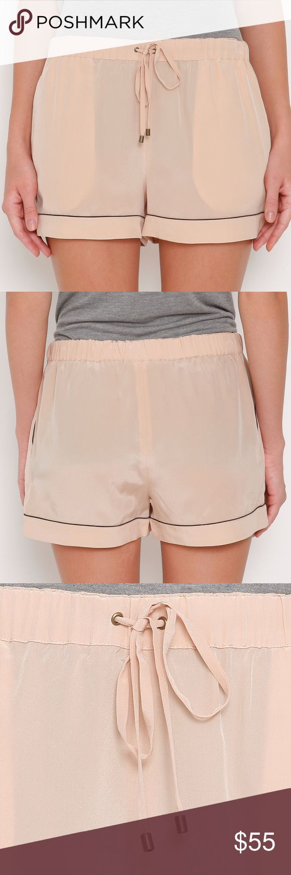 NWT 10 Crosby Derek Lam Nude Shorts Large New with tags 10 Crosby Derek Lam Nude Shorts - Drawstring - Large - Small spot shown in picture - may wash out - Size Large 10 Crosby Derek Lam Shorts