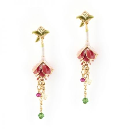 Fuchsia Statement Earring