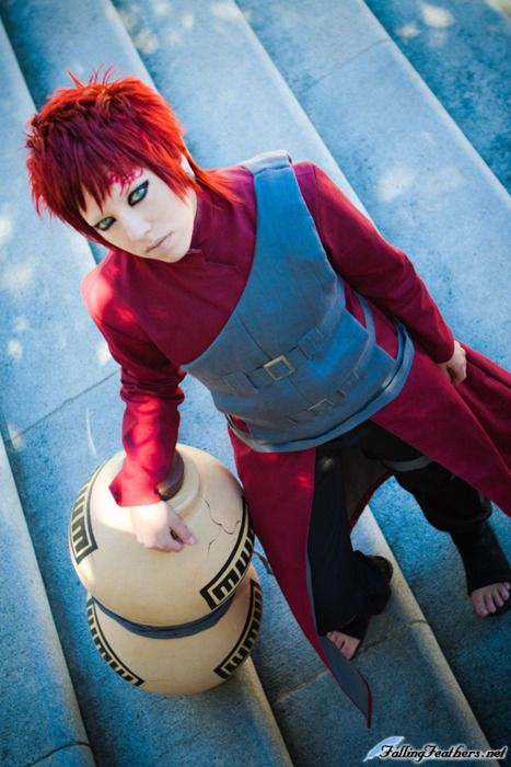 Gaara. If there was a live action movie, hew would have to play the role, because he doesn't look ridiculous in the costume.
