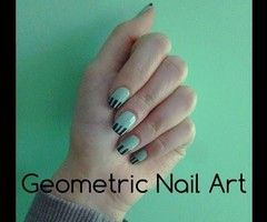 Geometric Nail Art ❤ - YouTube