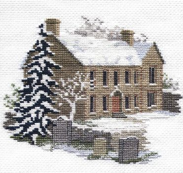 Bronte Parsonage - cross-stitch kit by Rose Swalwell