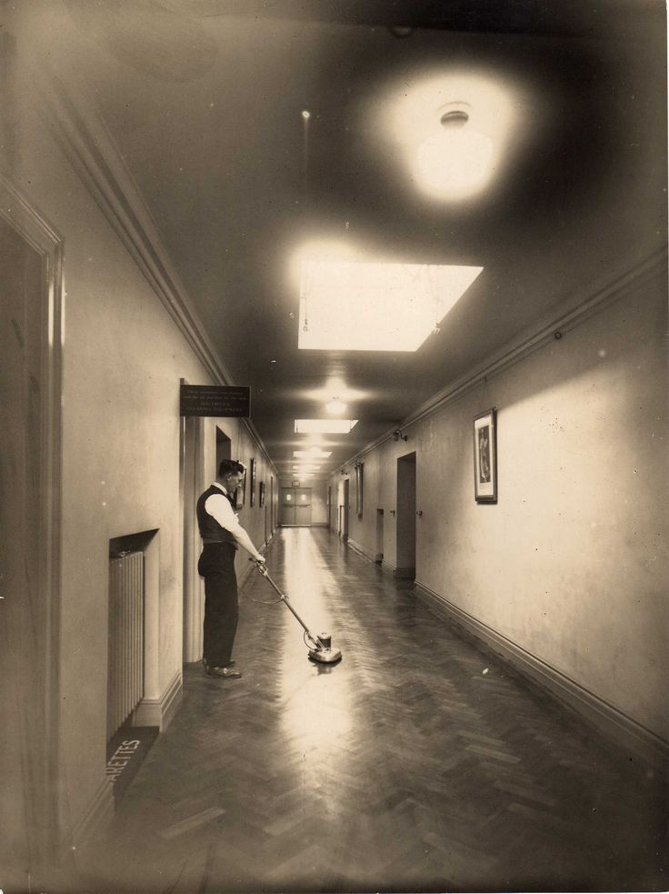 Floor cleaning looked more elegant in the 30s.