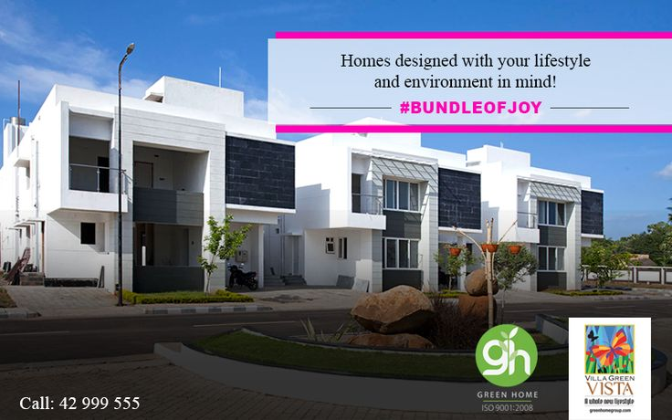 Homes designed with your lifestyle and environment in mind at Green Home Group.  http://bit.ly/GreenHomeVillagreenVista | 📞 044-42999555 #GreenHome #GreenHomeGroup #VistaForYou #EcoFriendly #LifeStyle