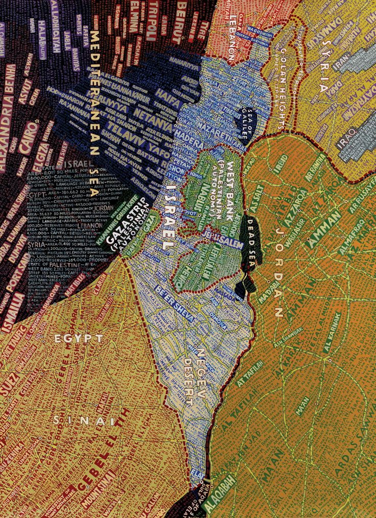 Map Of Oregon Deserts%0A  This is a Paula Scher map of Palestine and Israel  was fascinated by her  designs when I was in university