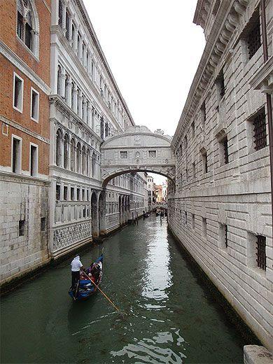 Le célèbre Pont des Soupirs Venise Italie