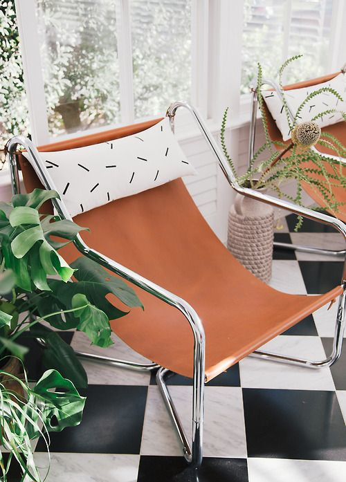 8 SEATS' INSPIRATIONS WITH CAMEL LEATHER & GREENERY