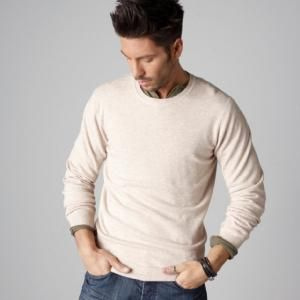 Pull ras de cou, laine mérinos et cachemire sur www.shopwiki.fr #pull #homme #mode_hiver