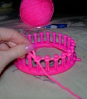 Purl stitch knitting loom. So glad to see this. Just bought the loom at the dollar store over the weekend, but no instructions..guess ya get what ya pay for..lol