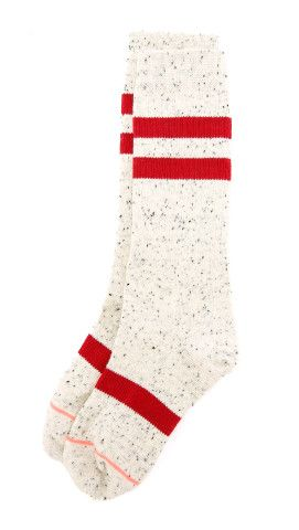STANCE Athletic Light Coyote Socks. Athletic STANCE socks are accented with a speckled knit and stripe detail. Ribbed arch support.