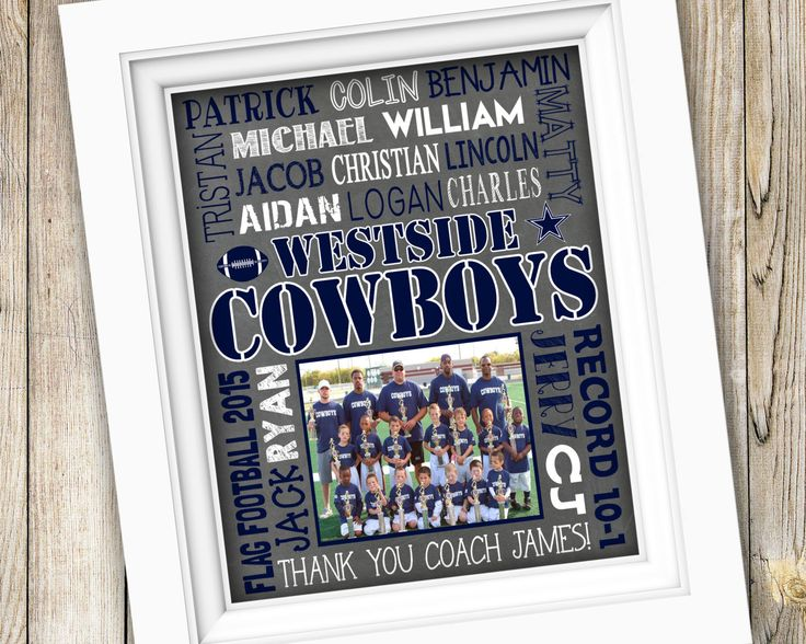 Football Coach Gift ~ End of Season Football Team Gift ~ Printable Subway Art ~ Personalized Flag Football Gift ~ Pop Warner Coach Thank You by SubwayStyle on Etsy