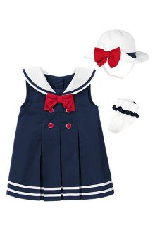 Baby girl can set sail in fashion with this Bow Sailor Dress with Collar from @Gymboree ! #KidsAroundtheWorld
