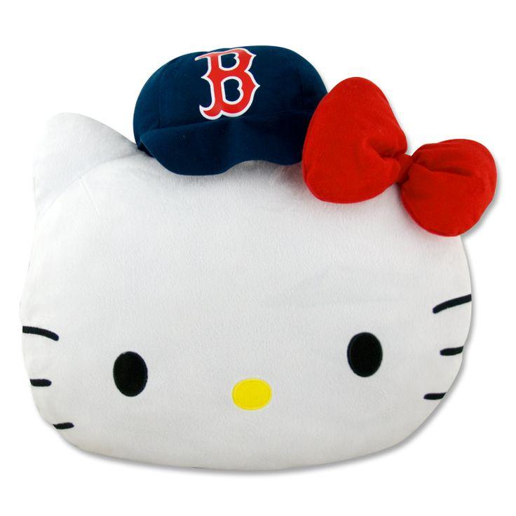 Boston Red Sox Hello Kitty Face Pillow 75 Via YawkeyWayStoreCom