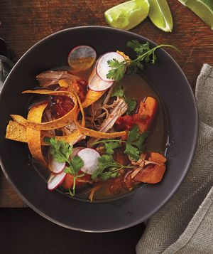 Get the recipe for Tortilla Soup With Pork and Squash.