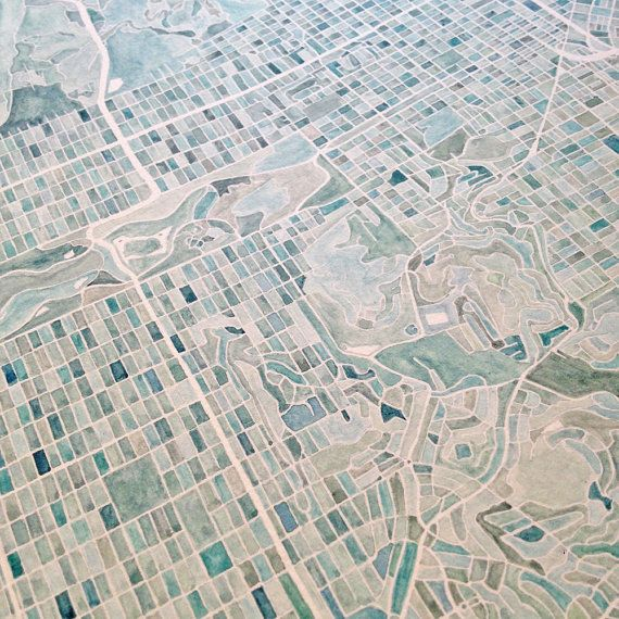 San Francisco CALIFORNIA City Block Plan by turnofthecenturies