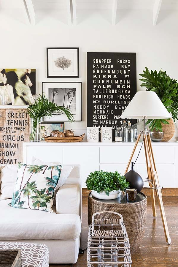 Light & Bright - Indoor plants - White washed furniture - Timber/wooden floors & decor - Coastal - Greens, white, timber, neutrals, glass, golds