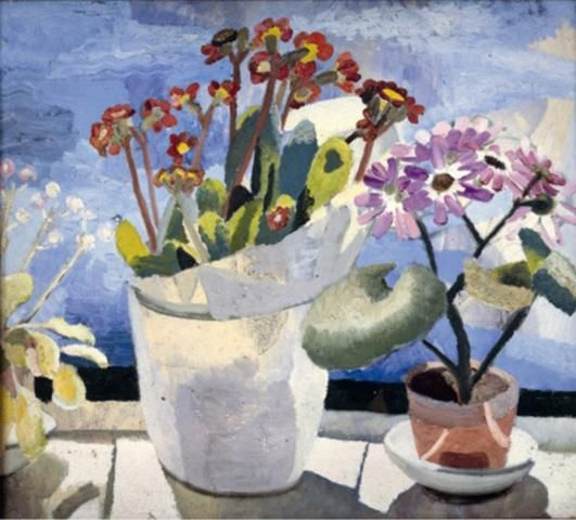 Polyanthus and Cineraria, 1921 Oil on canvas 51 x 59 cm Private Collection Copyright The Trustees of Winifred Nicholson