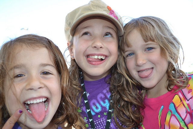 Making silly faces at YMCA Day Camp