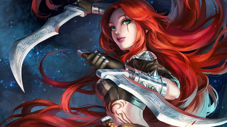Red Hair Anime Girl With Sword: 115 Best Images About League Of Legends