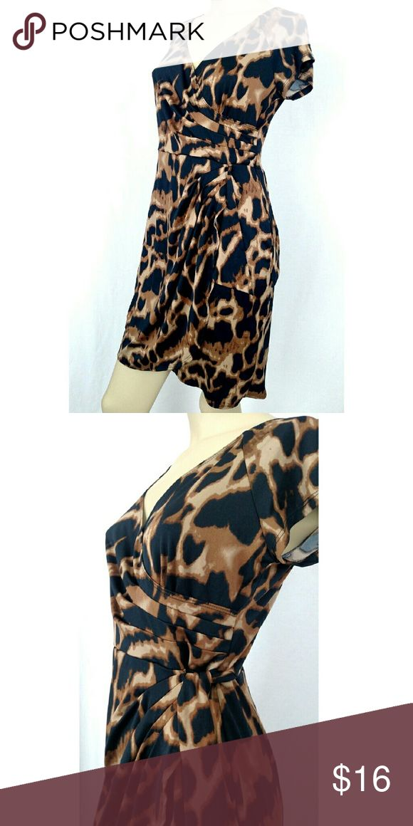 TIANA B. animal print petite small dress Animal print dress with tie-up on the side. New without tags. TIANNA B Dresses