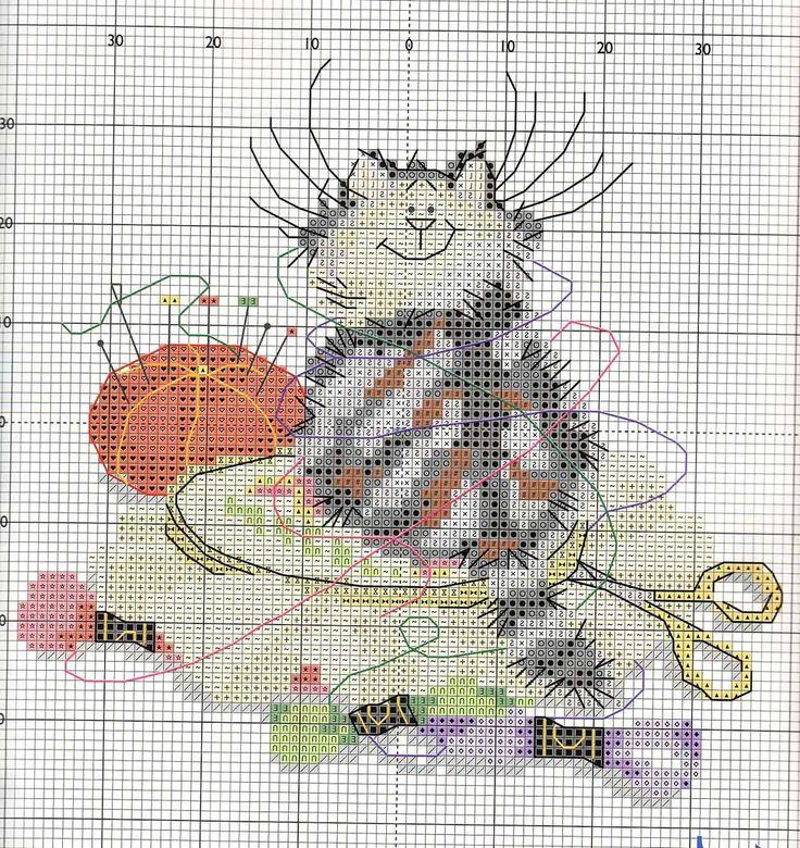 Afbeelding van borduurpatronen. door Ykje Stoker Kat