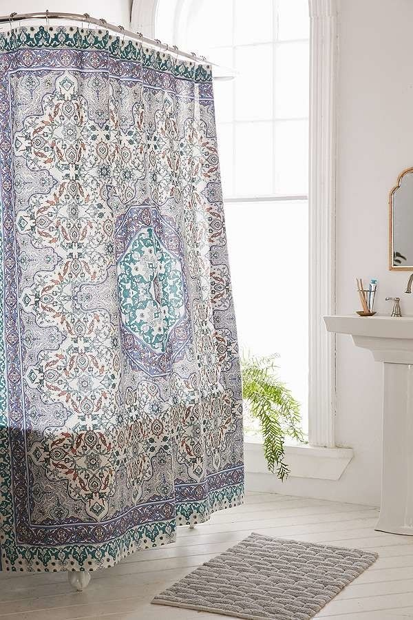 Liven Up The Dreariest Bathroom With A New Shower Curtain