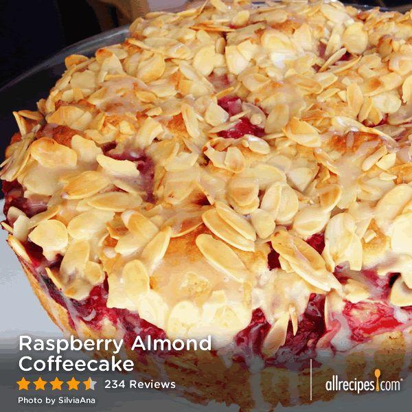 April 7: National Coffee Cake Day   Raspberry Almond Coffeecake