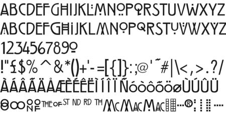 the Mackintosh Collection Fonts