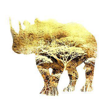 Nostalgic Art - Rhino Colorful Art