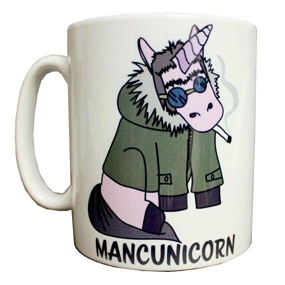 Mancunicorn Liam Gallagher Inspired Ceramic Mug Produced In Uk Oasis Northern Quarter 90s Britpop Unicorn Madchester Mad For It Manchester Ceramic Mug Mugs Inspiration