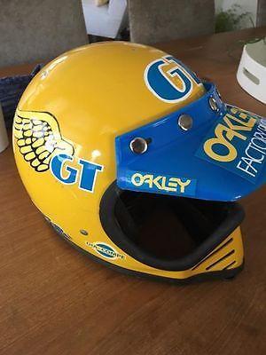 Vintage-YELLOW-NJL-FULL-FACE-BMX-Helmet-MOTO-Motocross-MX-GT-BMX