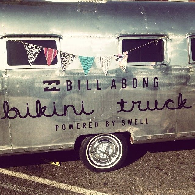 It's Here: The Billabong Bikini Truck, Powered by SWELL! http://blog.swell.com/womens-style/its-here-the-billabong-bikini-truck-powered-by-swell/ #billabongbikinitruck